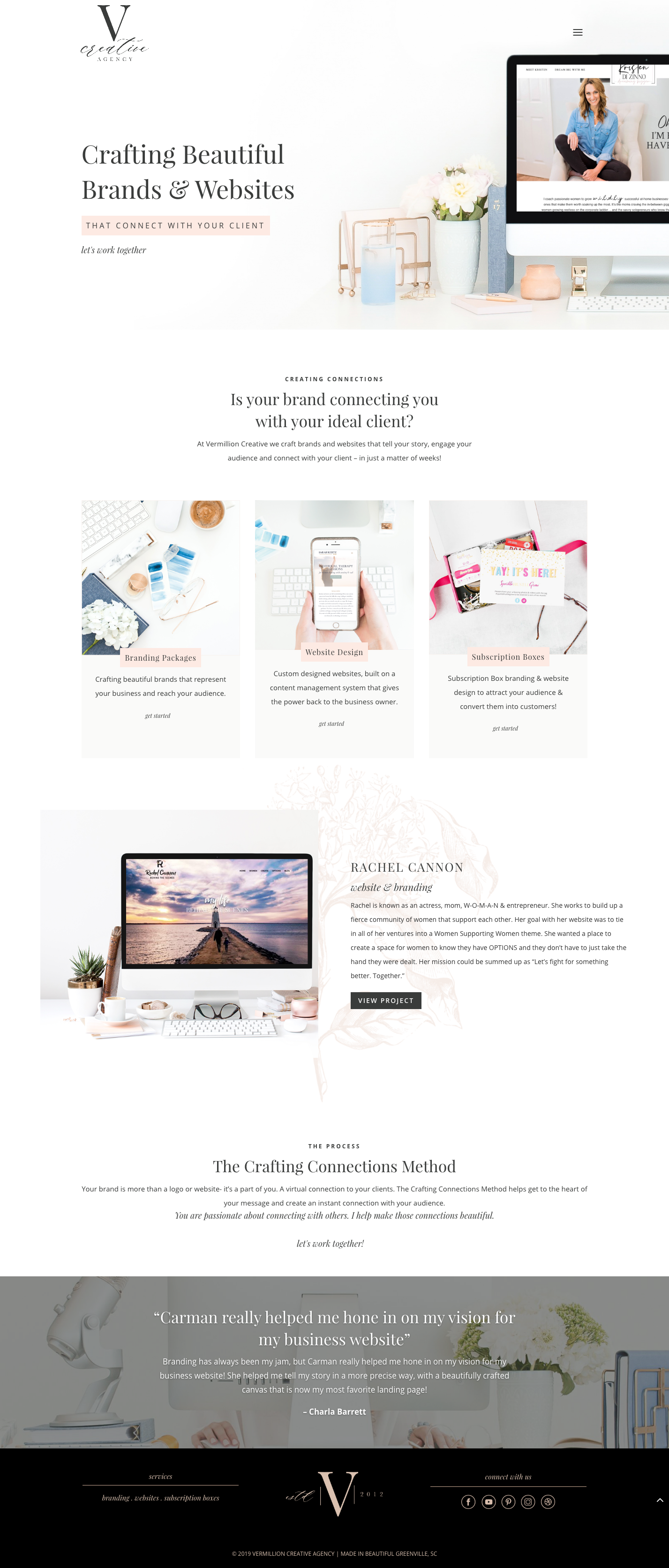 Vermillion Creative Is A Design Agency Focused On Helping Female Entrepreneurs Create Bea Agency Website Design Creative Agency Website Branding Website Design