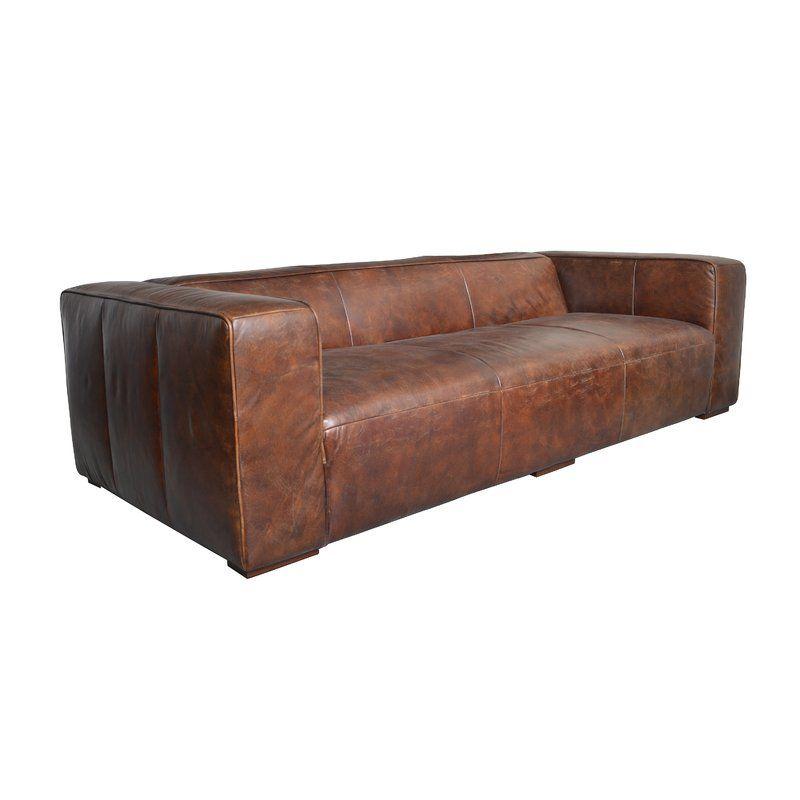 Sherron Leather Sofa | living room in 2019 | Leather sofa