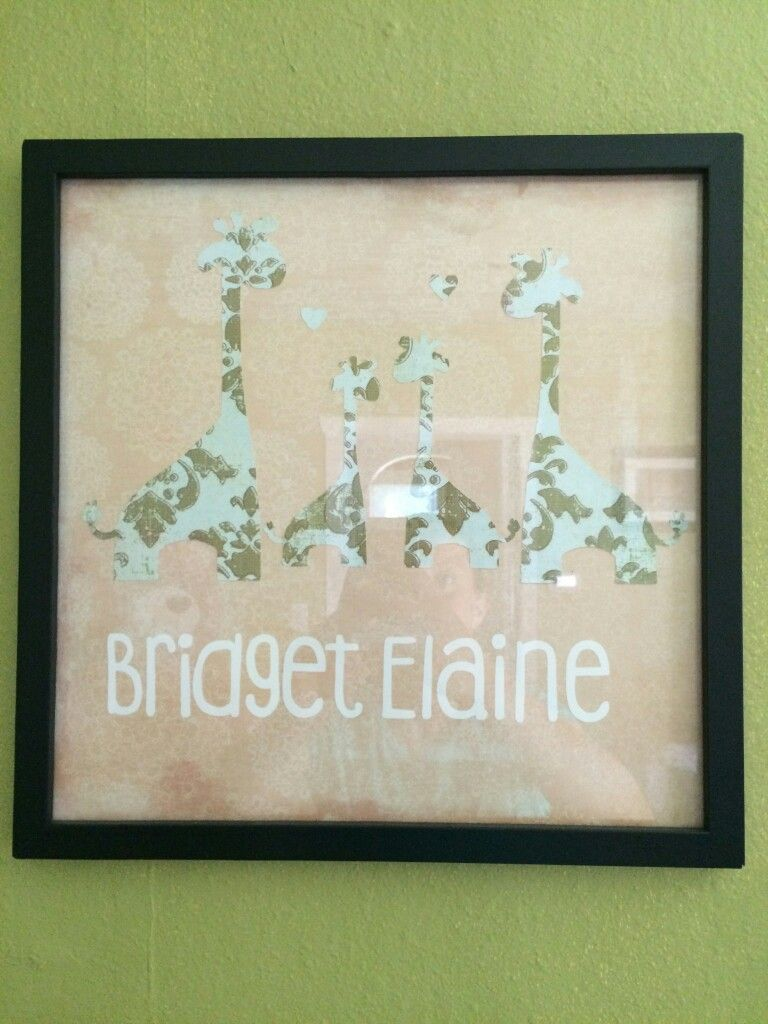 Made this for my niece to go with her cute giraffe themed nursery