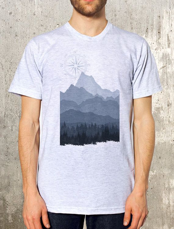 2241561f11c2 Men s T-Shirt - Mountain Layers - Screen Printed Men s Poly-Cotton T ...