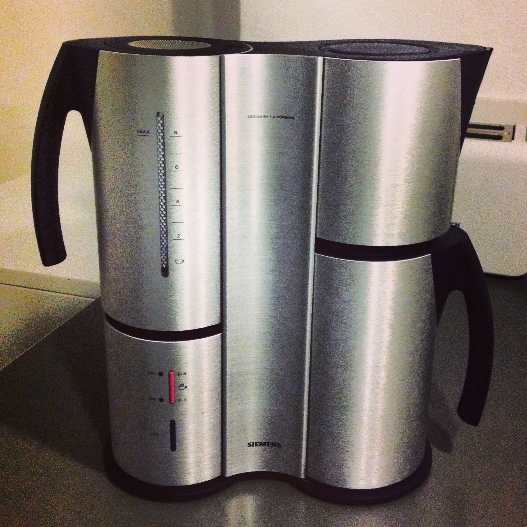 my newly acquired siemens coffee machine porsche design. Black Bedroom Furniture Sets. Home Design Ideas