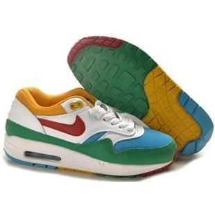 319986 161 Nike Air Max 1 Wmns White Yellow Red DW01003