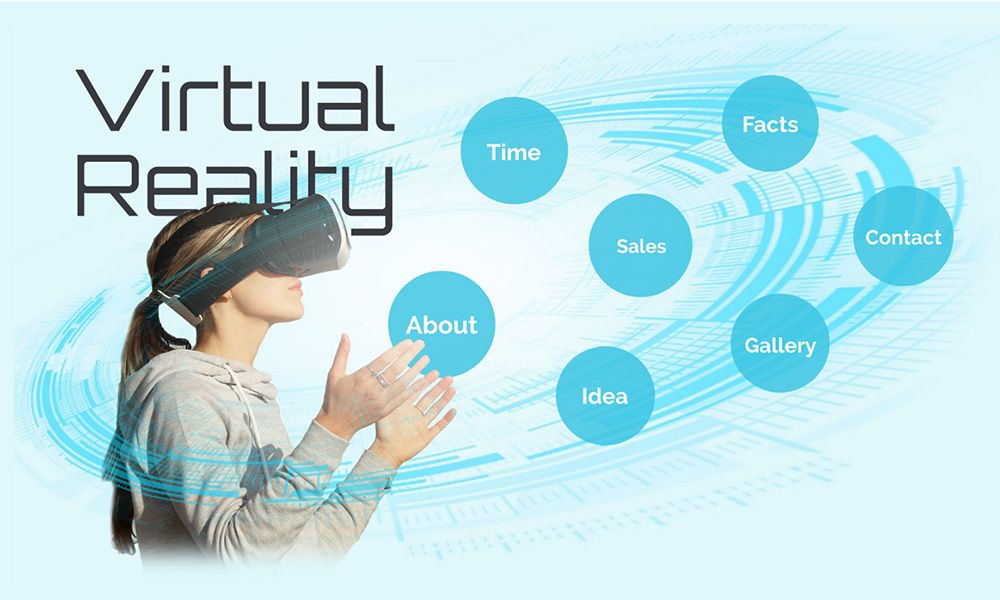 VR Virtual reality headset 3D prezi next presentation