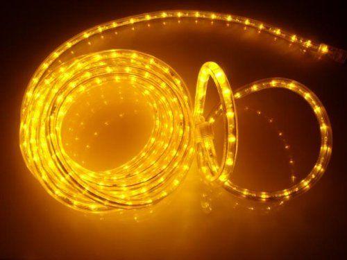 25FT BRILLIANT AMBER LED Rope Light Kit For 12V System, Christmas