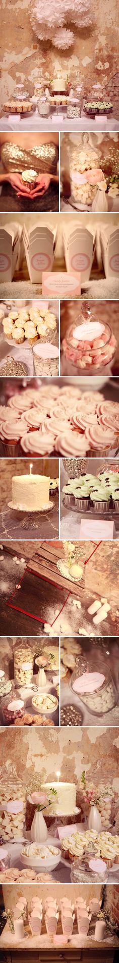 Candy Bars - tolle Idee für Hochzeit, Geburtstag & Co. Noch mehr Ideen gibt's hier: http://www.gofeminin.de/event/hochzeitsspecial-ssc154.html