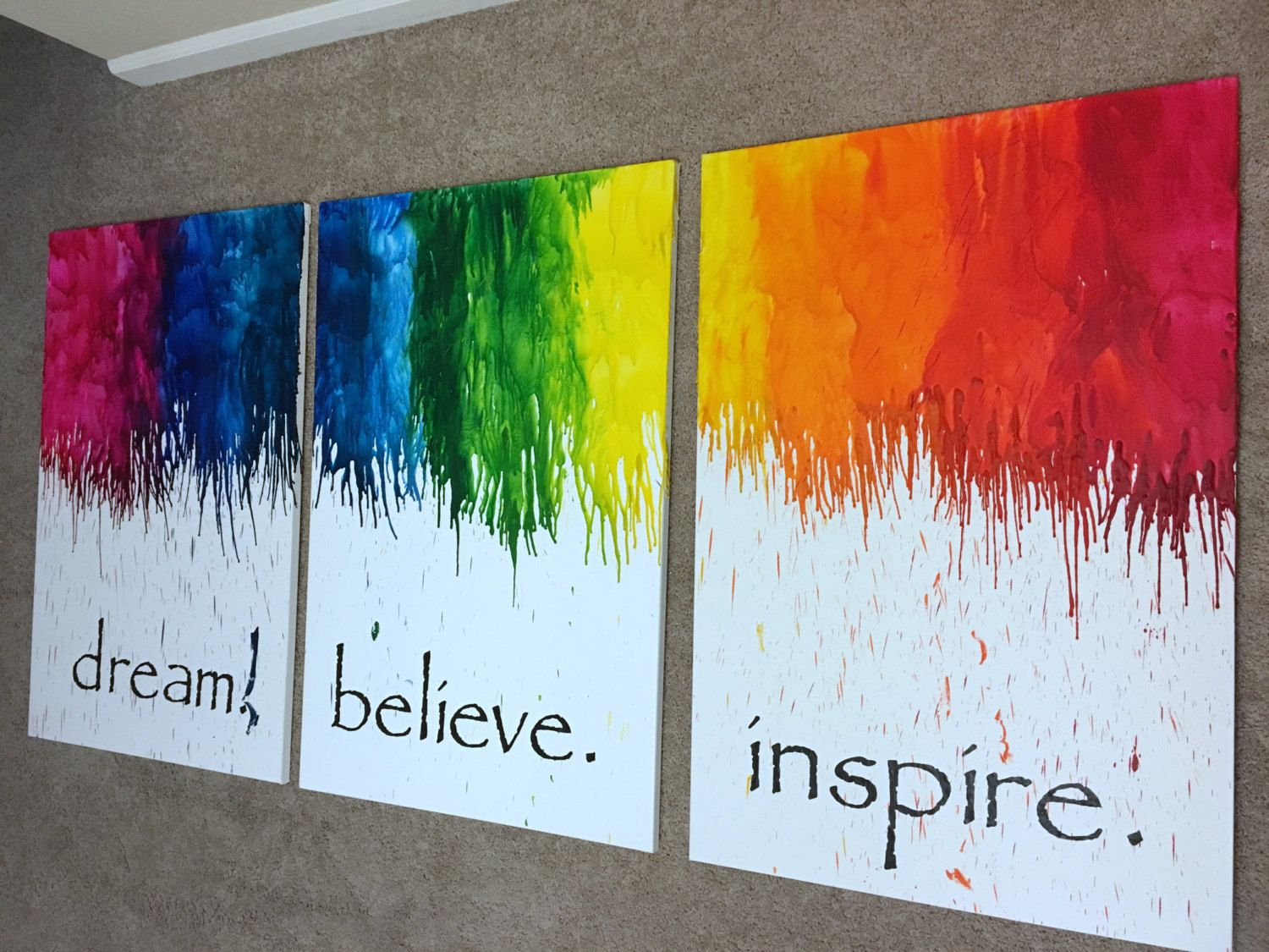 36x72 Multi Panel Canvas Wall Art Set Large Of 3 Quote Office Decor Living Room By