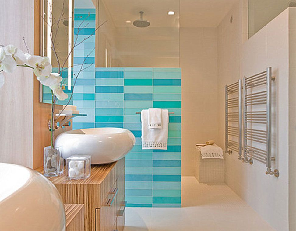 badezimmer-fliesen-mit-Strand-Bad-Themen-Ocean-Blau-Bad-Wandfliese - fliesen bad wei