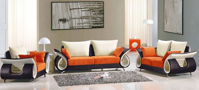 Modern Contemporary Fabric Sofa Set Tos