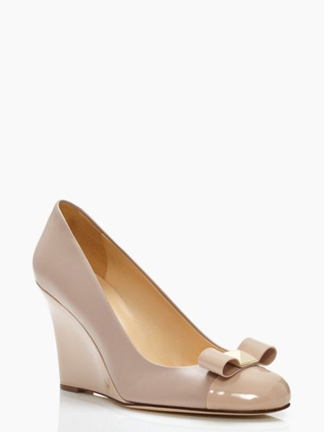 Kalle Wedge nude bow | Kate Spade