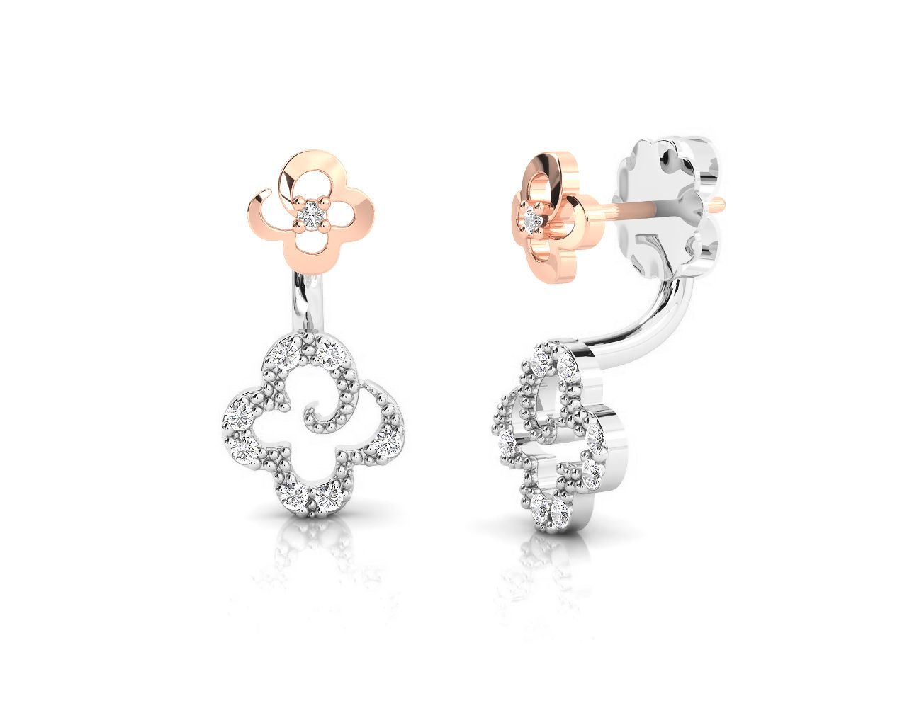 3f81043ea Products Archive | Kukka Jewelry Pink And Gold, Black Gold, Stud Earrings,  Flower