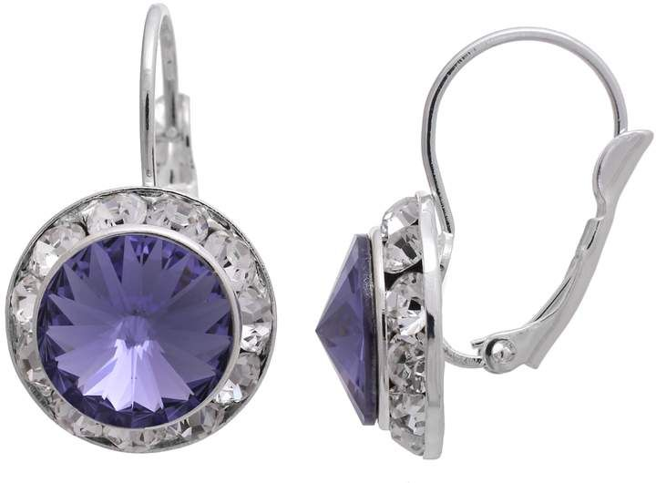 8813dd039 Illuminaire Crystal Silver-Plated Halo Drop Earrings - Made with Swarovski  Crystals