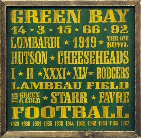 Amazon.com: Green Bay Packers Vintage Style Wooden Sign-18x18 ...