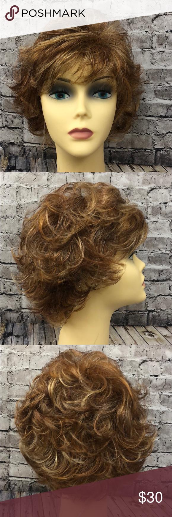 Whisper highlighted auburn syn wig nwt boutique my posh closet