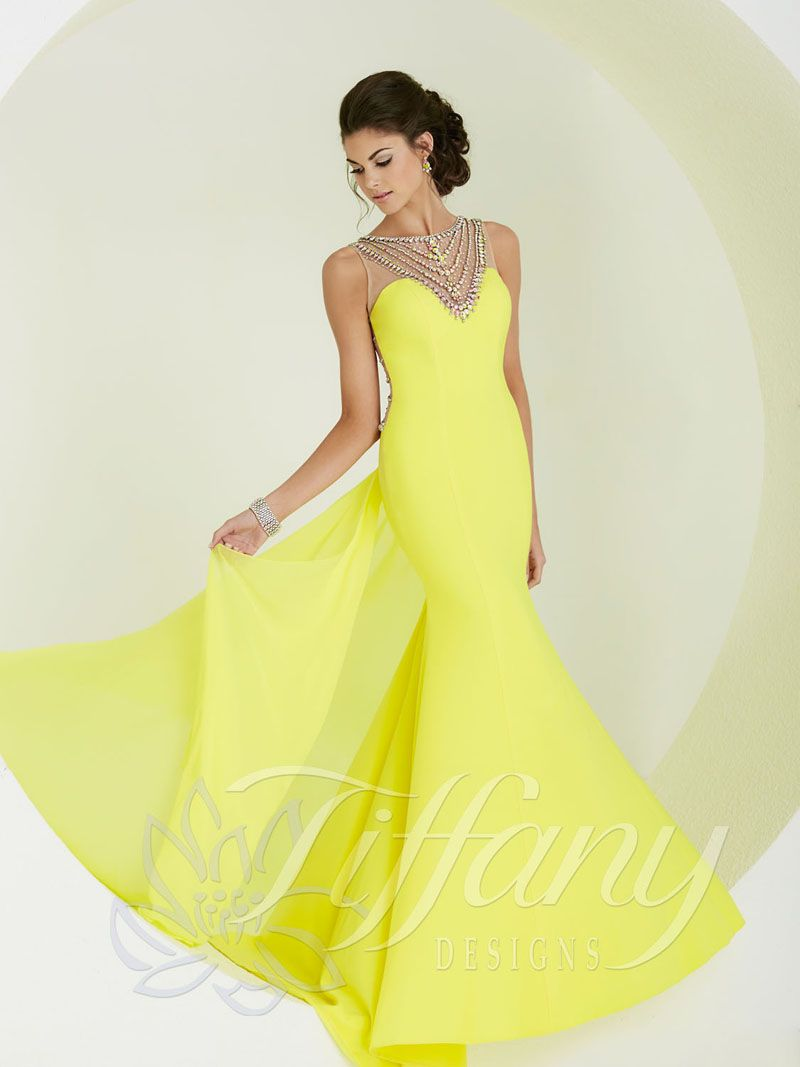 Yellow Prom Dress by Tiffany