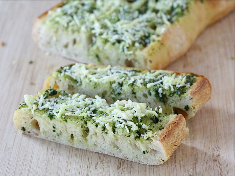 Tasty Kitchen Blog: Basil Butter Garlic Bread. Guest post by Maria Lichty of Two Peas and Their Pod, recipe submitted by TK member Jenna (kitchenlovenest) of Jennas Everything Blog.
