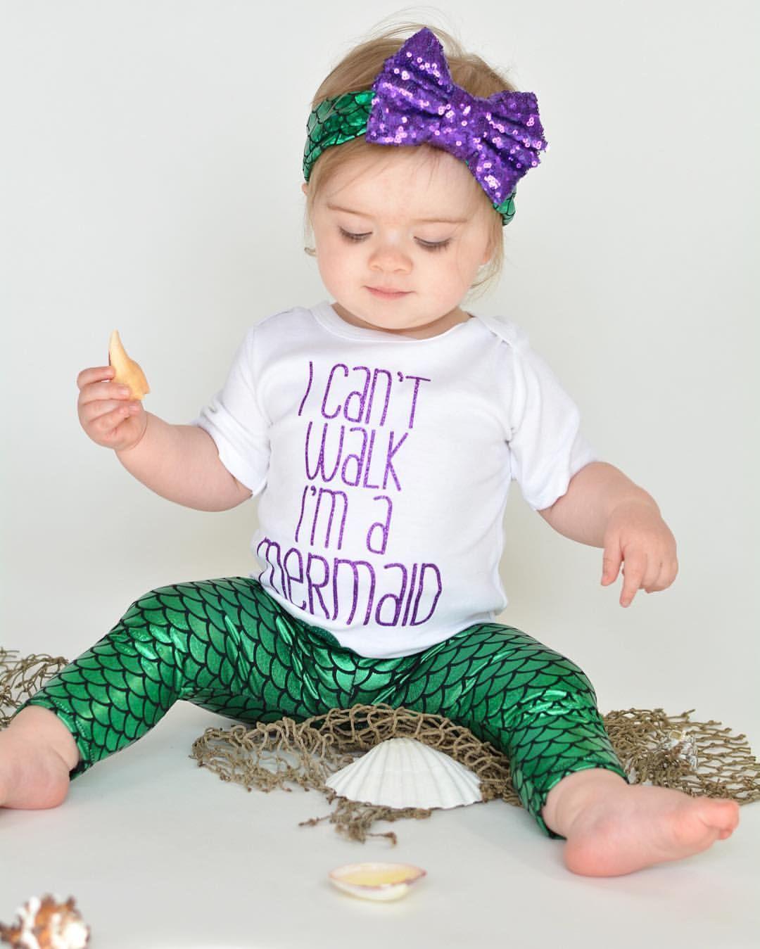 i cant walk im a mermaid baby mermaidmermaid clothesmermaid outfitmermaid - Baby Mermaid Halloween Costume