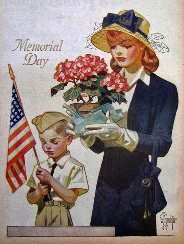 The Bleating Sheep...searching for some light in a darkish World: Memorial Day 2015 Vintage 1947 Memorial Day     In...