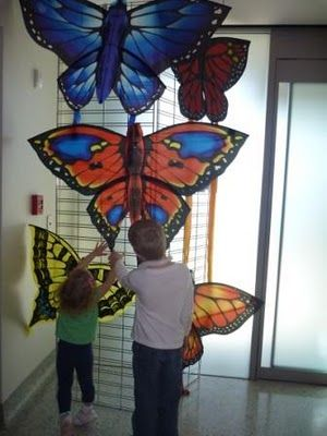 I want to try and make giant butterflies with my students.