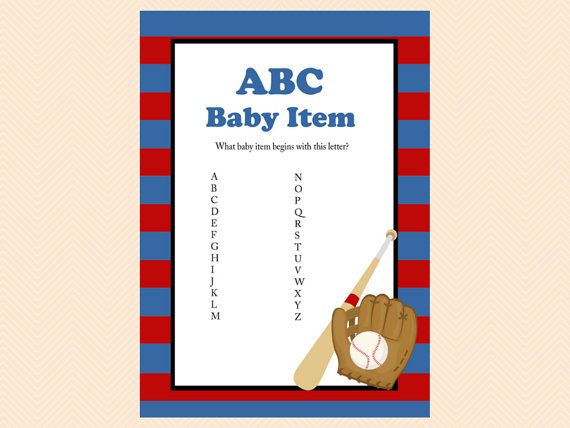 ABC Baby Item Name Baby Item Alphabet Red by MagicalPrintable