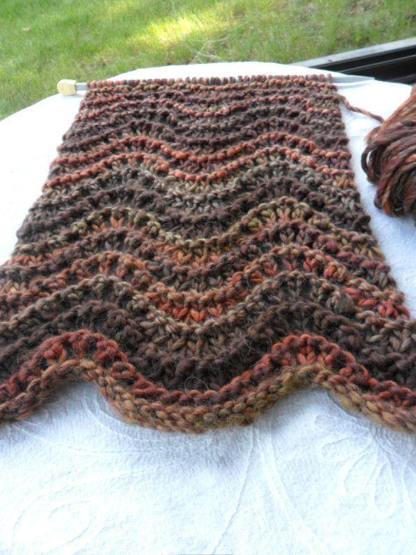 Des vagues sur mes aiguilles les bricoles du grenier vagues tricot et points - Les points au tricot ...