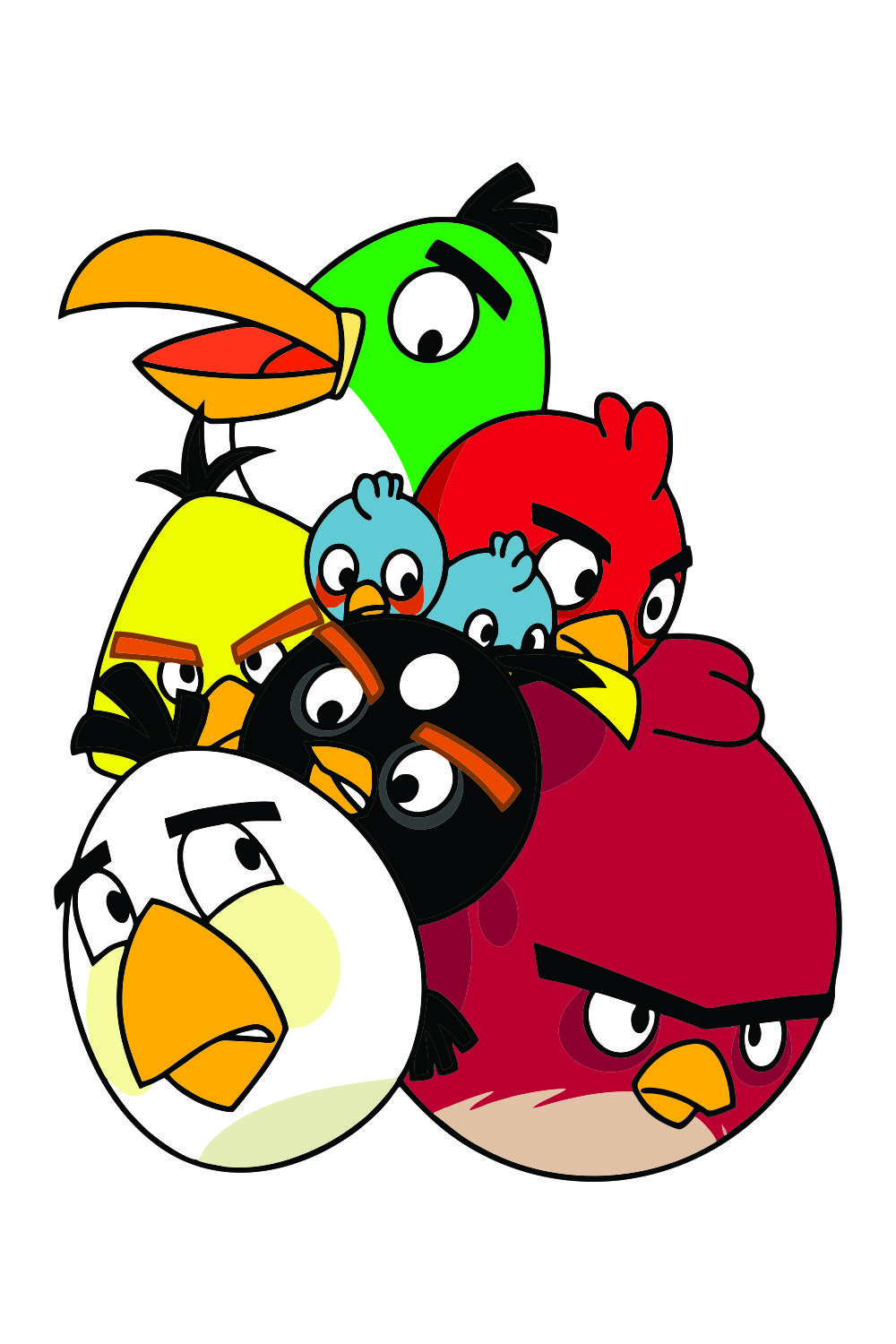 Angry Birds Vector Images Png Cdr Svg Ai Instant Download Angry Birds Characters Angry Birds Bird Clipart