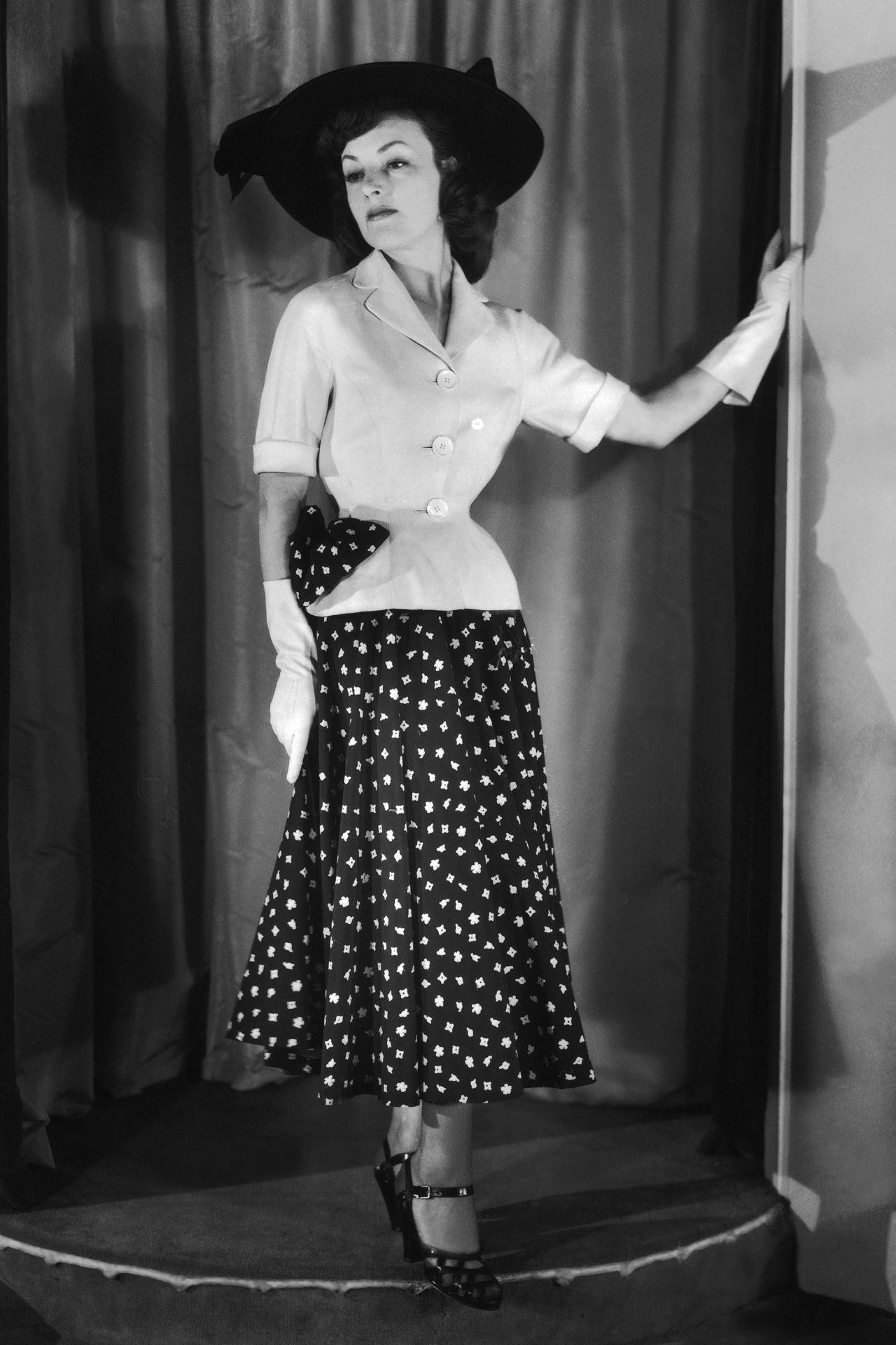 Nina Ricci, Ensemble, 1948 | 40s Fashion | Mode années 40 ...