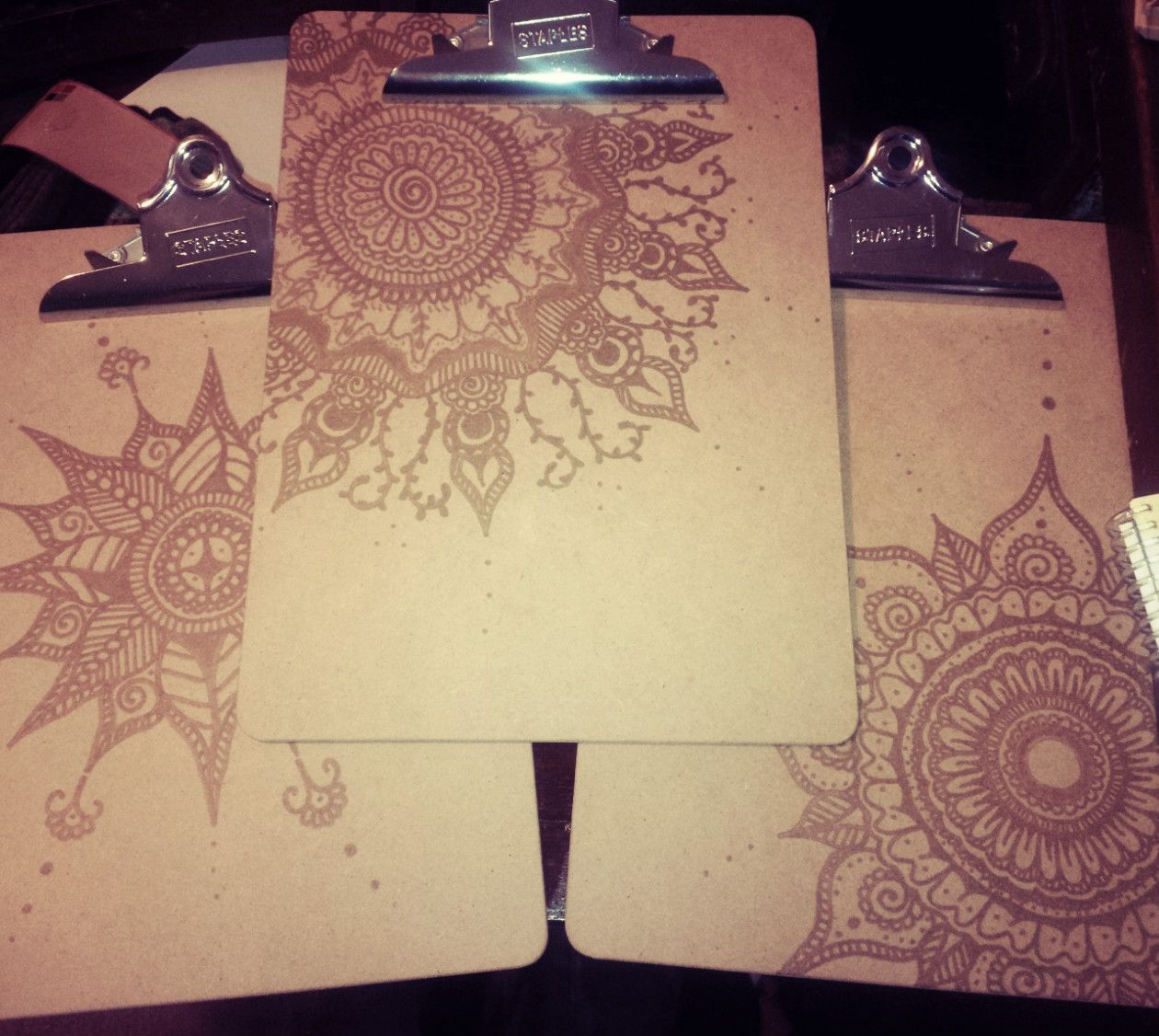 DIY Decorative Clipboards to hang on the wall: -Recycled hardboard ...