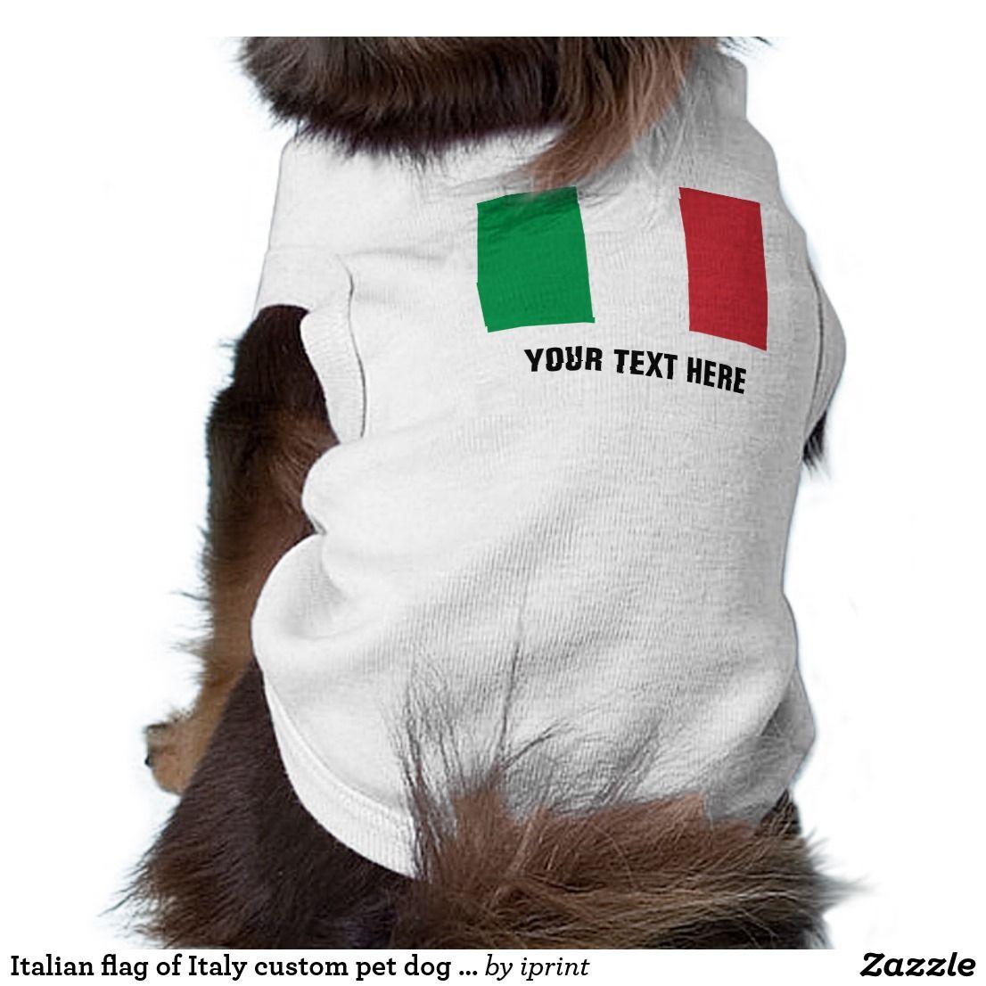 Italian flag of Italy custom pet dog shirt