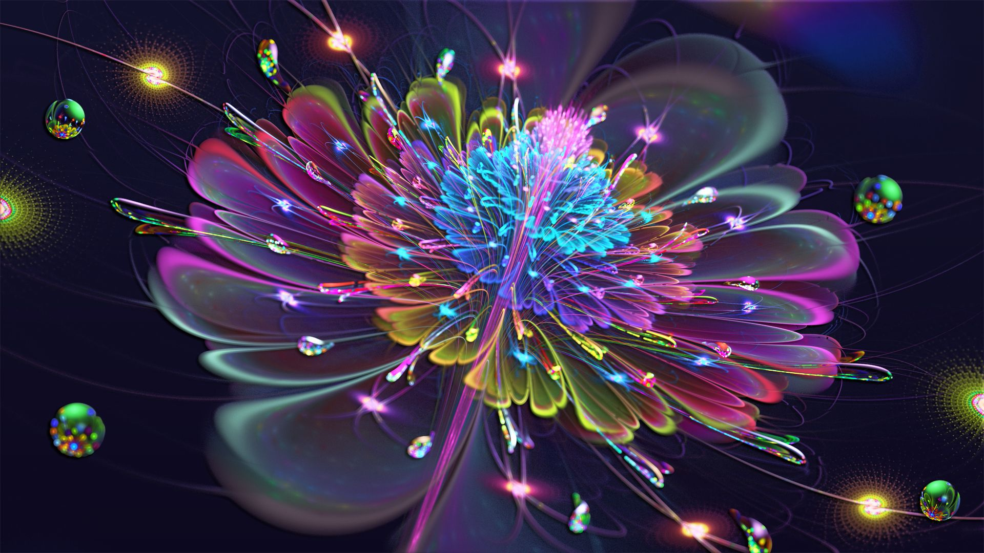 Fleur De Vibrant by =Frankief . Fractal design, Fractals