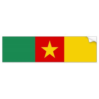 Cameroon country flag symbol long bumper sticker