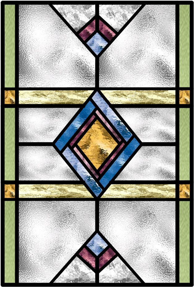 Victorian Traditional Edwardian Stained Glass Window Design