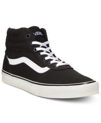 Vans Women's Milton Hi Canvas High-Top Sneaker   High top sneakers ...