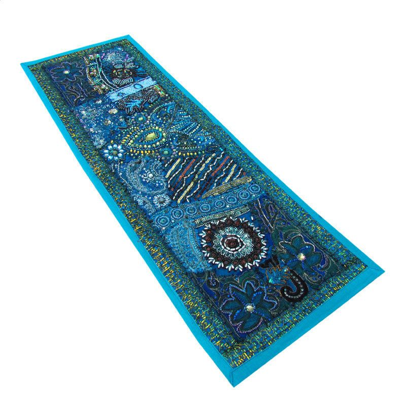 Indian Cotton Decor Art Traditional Beaded Patch Work Tapestries Wall Hanging 17 #AshuHandicraft #Handmade