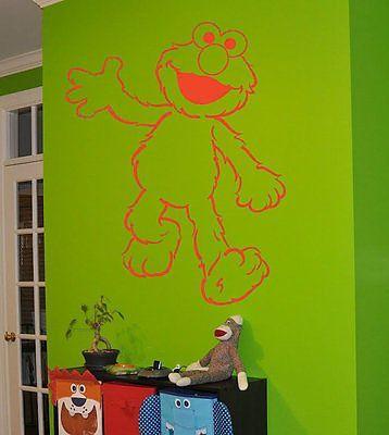 Elmo Sticker Elmo decal Elmo Children\'s room Wall Art Decal ...