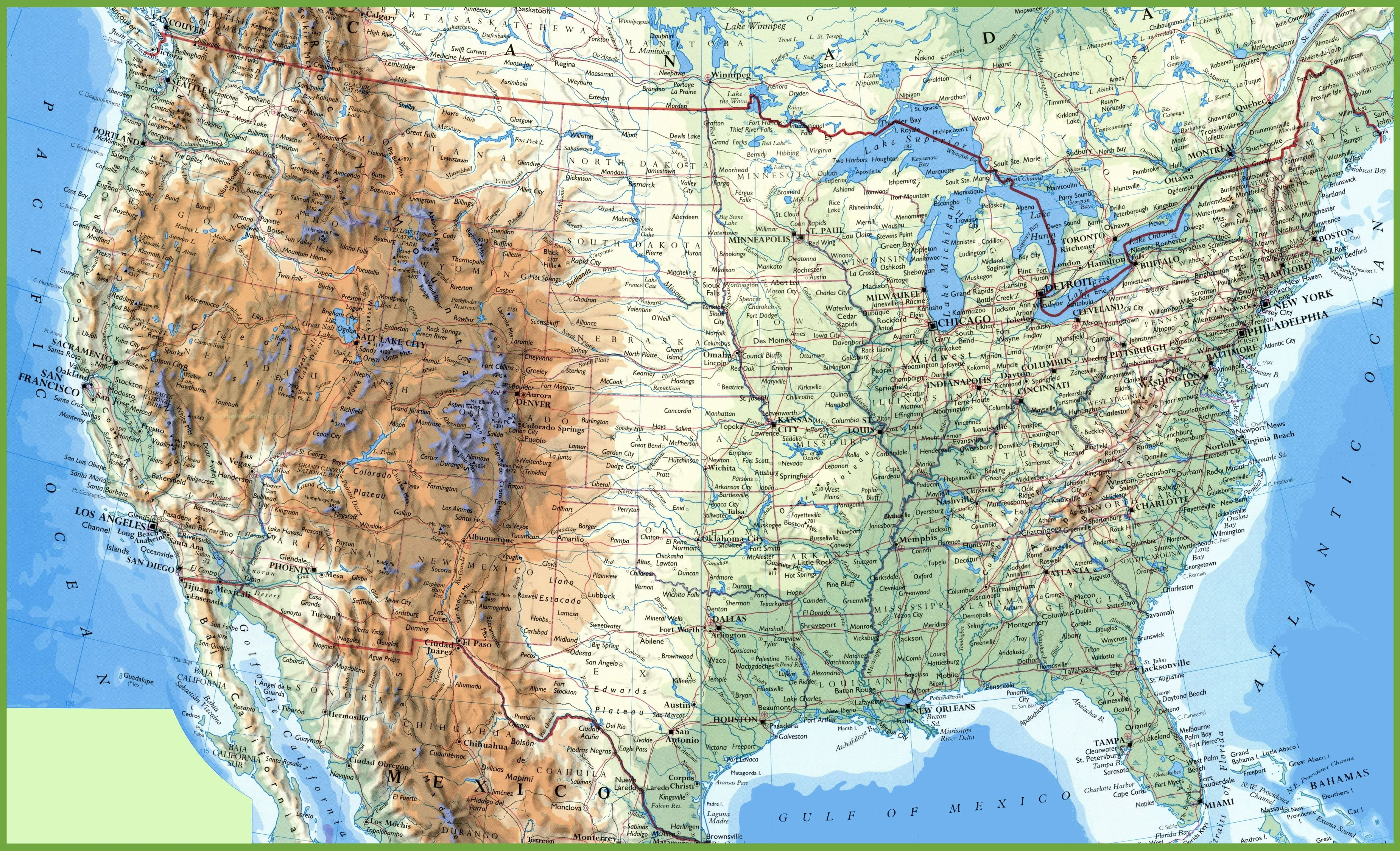 Detailed Map Of Us Large detailed map of USA with cities and towns | Detailed map