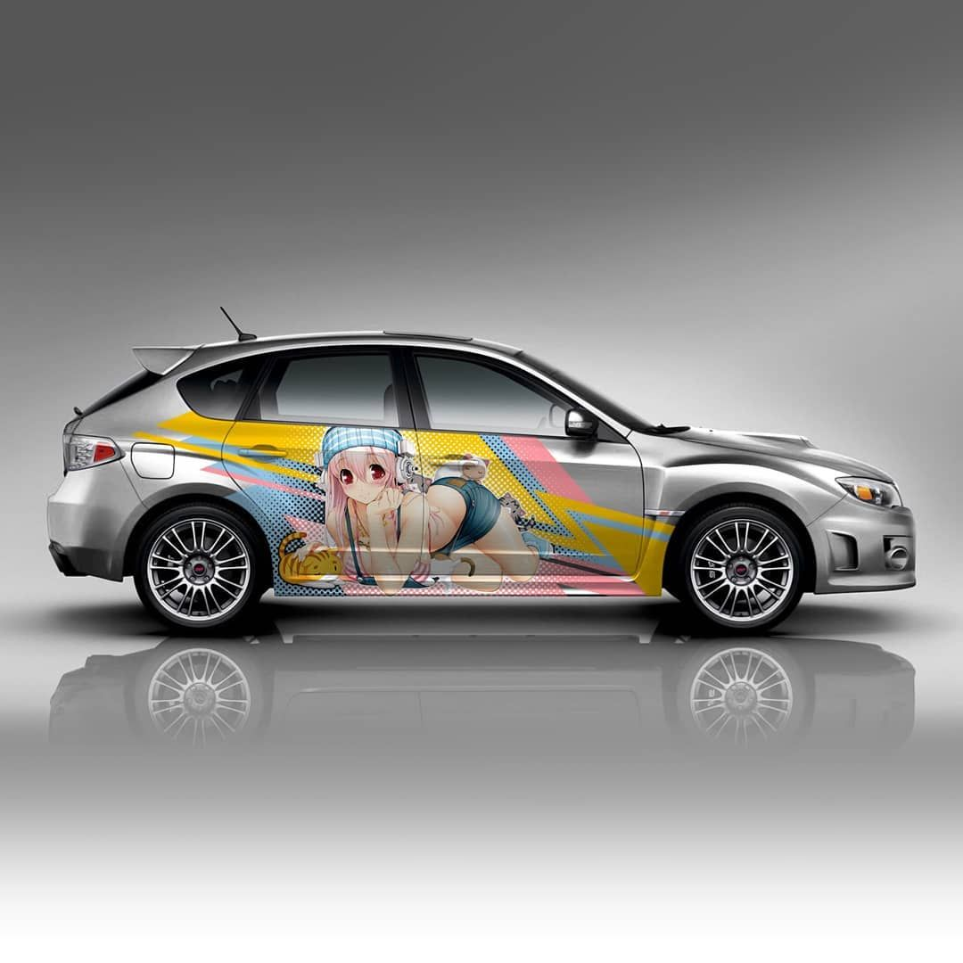 Another itasha design this anime sticker decal and a couple