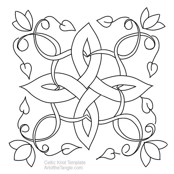 Celtic Knot Templates | Mandala para colorear, Colorear y Mandalas