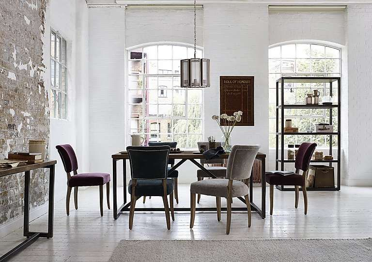 Barbican Dining Table Sale £799  Industrial Style Décor Interesting Sale Dining Room Chairs 2018