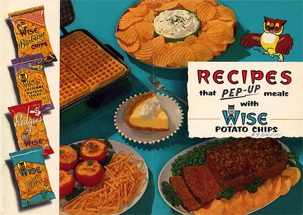 Pep Up Your Meals With Potato Chips!  Put them in your pie crusts and waffles!  (1957)