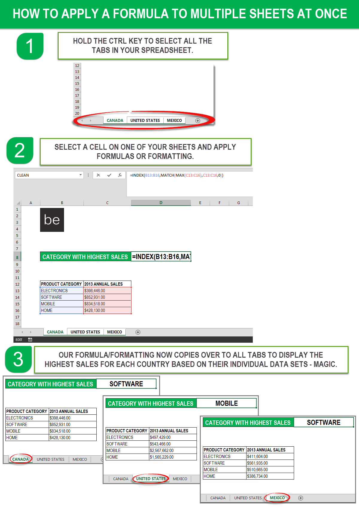 Microsoft Excel Shortcut How To Copy Formatting And