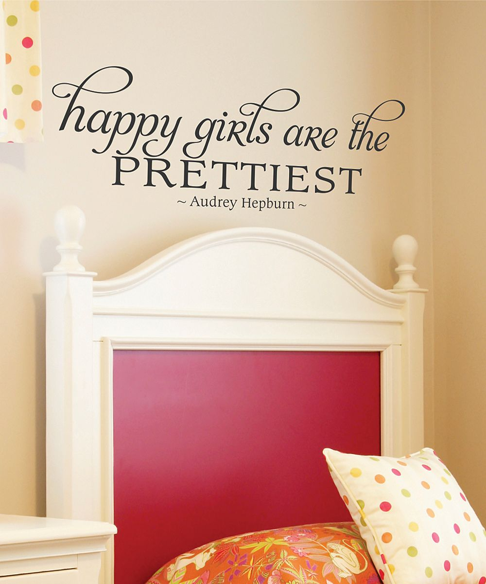 Belvedere Designs Black 'Happy Girls' Wall Quote Wall