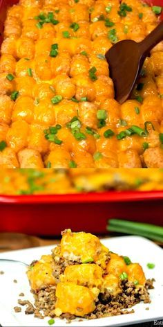 Cheeseburger Tator Tot Casserole images