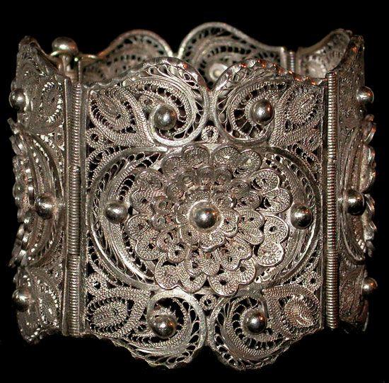 Oaxaca Silver Filigree Bracelet