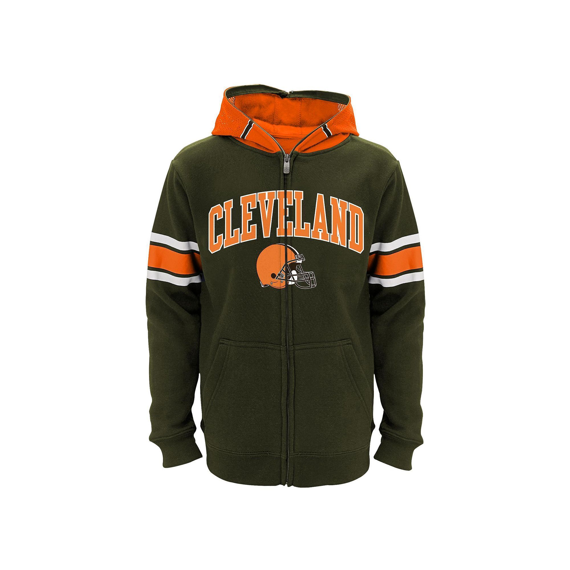 e7321024 Boys 8-20 Cleveland Browns Helmet Hoodie, Size: L(14/16), Brown ...