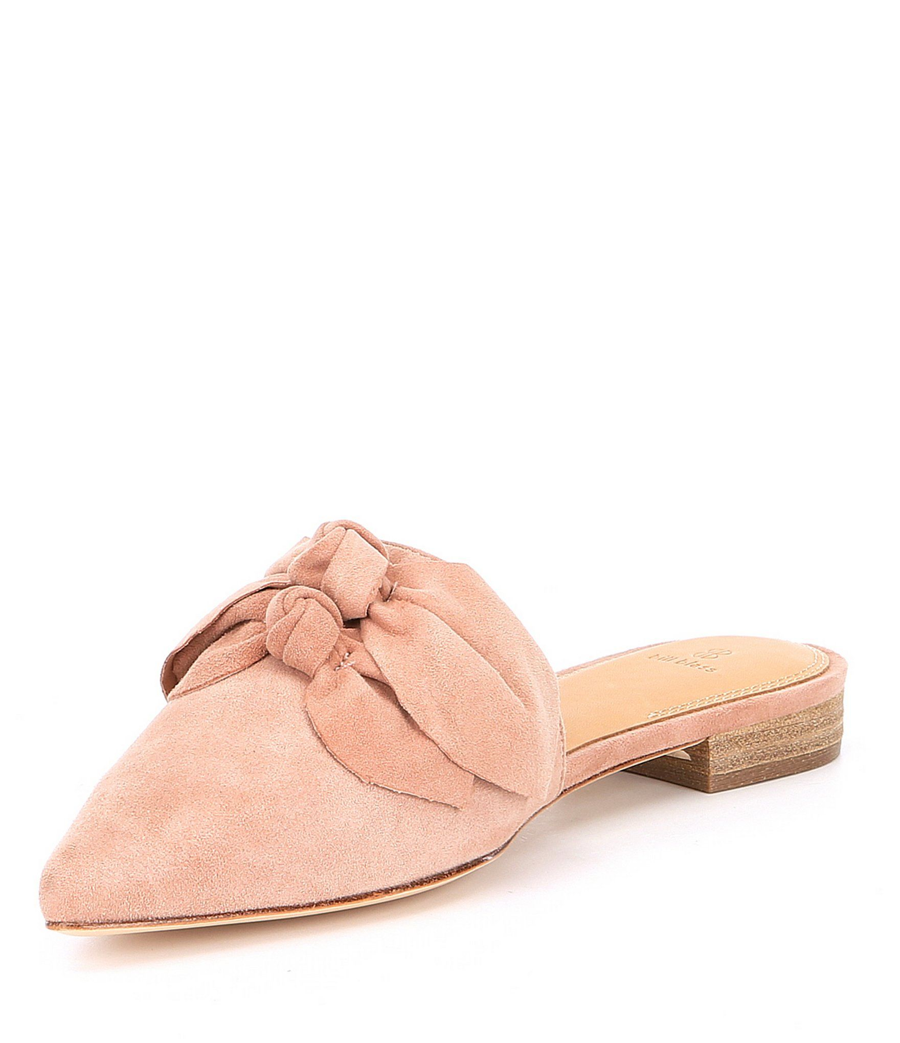 Bill Blass Stella Suede Bow Slip-On Mules Wzbfm2AaGz