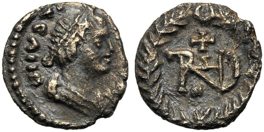 Collezione privata.  Quarto di siliqua di Teodorico in nome di Giustino.