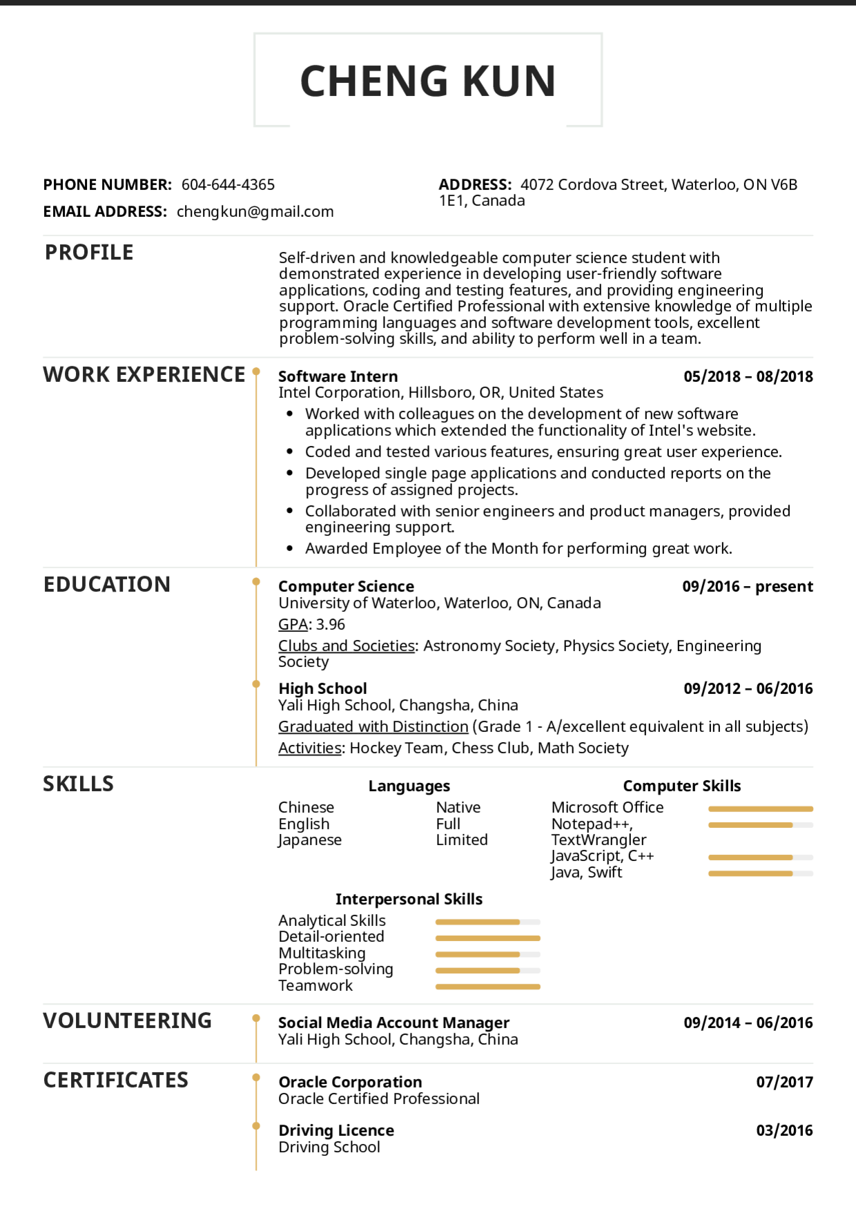Resume Templates For Students Andriblog.design in 2020