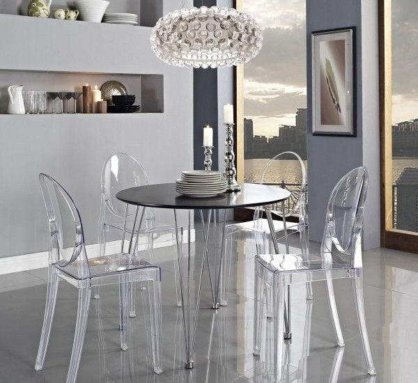 Kartell Tavoli Da Pranzo.Victoria Ghost Chair By Philippe Starck For Kartell Cadeiras