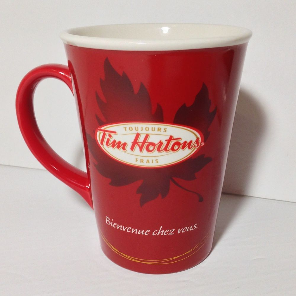 Tim Hortons 11 Home Maple Leaf Red Coffee Tea Mug