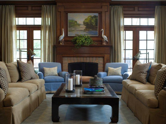 Family room, love the two matching couches.